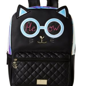 BETSEY JOHNSON Holographic Cat Backpack